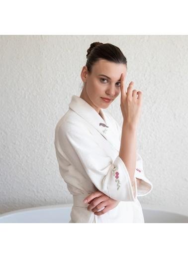 Chakra Elvita Kadın Bornoz Ekru Ekru
